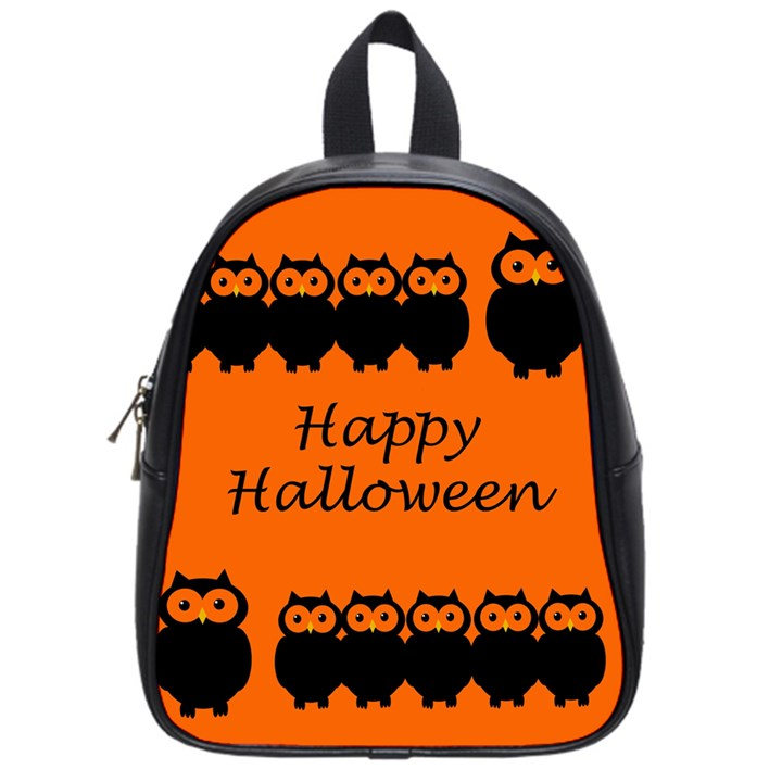 Happy Halloween - owls School Bags (Small)