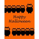 Happy Halloween - owls Large Memo Pads 4.125 x5.5  Memopad