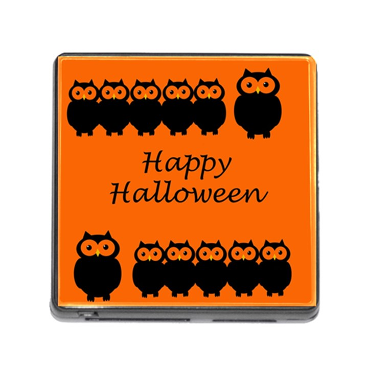 Happy Halloween - owls Memory Card Reader (Square)