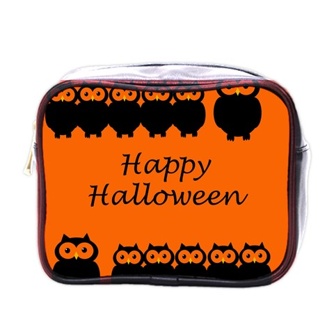 Happy Halloween - owls Mini Toiletries Bags