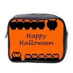 Happy Halloween - owls Mini Toiletries Bag 2-Side Front