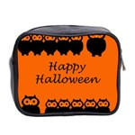 Happy Halloween - owls Mini Toiletries Bag 2-Side Back
