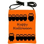 Happy Halloween - owls Shoulder Sling Bags Front