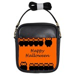 Happy Halloween - owls Girls Sling Bags Front