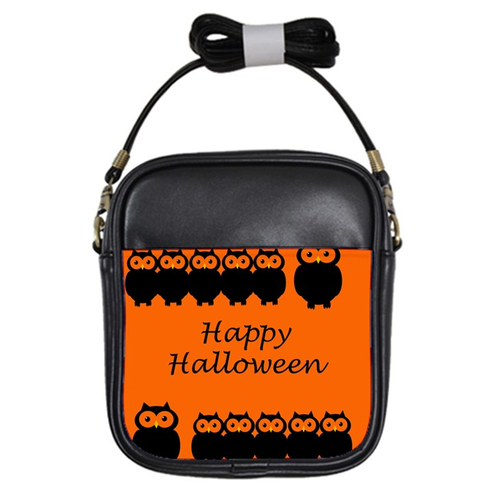 Happy Halloween - owls Girls Sling Bags