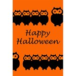 Happy Halloween - owls 5.5  x 8.5  Notebooks Back Cover