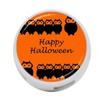 Happy Halloween - owls 4-Port USB Hub (Two Sides)  Front