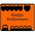 Happy Halloween - owls Fleece Blanket (Medium)  60 x50 Blanket Front