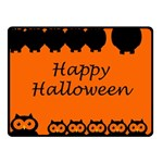 Happy Halloween - owls Fleece Blanket (Small) 50 x40 Blanket Front