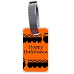 Happy Halloween - owls Luggage Tags (Two Sides) Back
