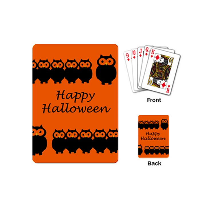 Happy Halloween - owls Playing Cards (Mini)