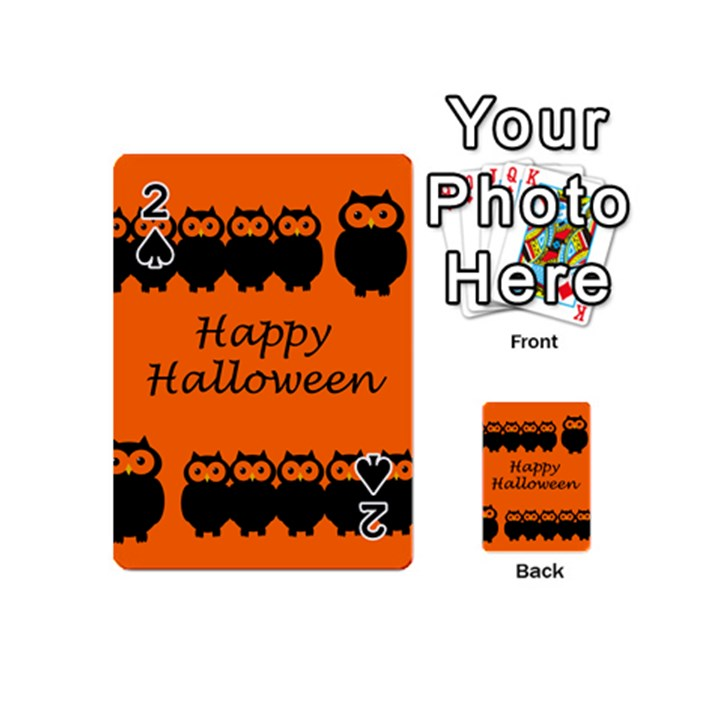 Happy Halloween - owls Playing Cards 54 (Mini)