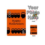 Happy Halloween - owls Playing Cards 54 (Mini)  Front - SpadeQ