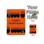 Happy Halloween - owls Playing Cards 54 (Mini)  Front - Spade4