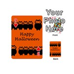 Happy Halloween - owls Playing Cards 54 (Mini)  Front - Heart9