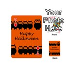 Happy Halloween - owls Playing Cards 54 (Mini)  Front - Diamond7