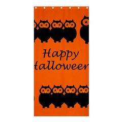 Happy Halloween - owls Shower Curtain 36  x 72  (Stall)