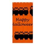 Happy Halloween - owls Shower Curtain 36  x 72  (Stall)  33.26 x66.24 Curtain