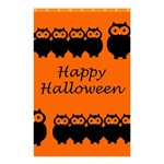 Happy Halloween - owls Shower Curtain 48  x 72  (Small)  42.18 x64.8 Curtain