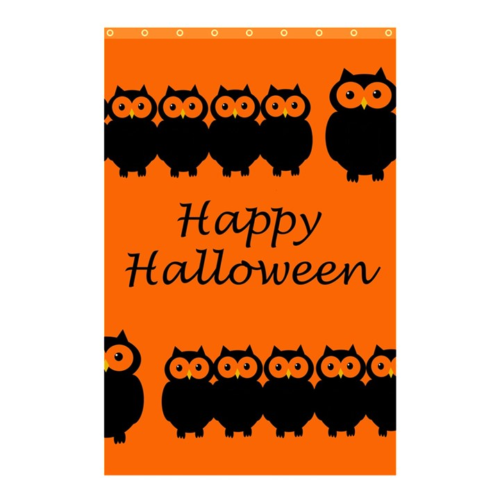 Happy Halloween - owls Shower Curtain 48  x 72  (Small)