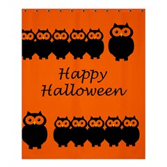 Happy Halloween - owls Shower Curtain 60  x 72  (Medium)