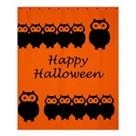 Happy Halloween - owls Shower Curtain 60  x 72  (Medium)  54.25 x65.71 Curtain