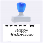 Happy Halloween - owls Rubber Stamps (Large) 2.26 x1.05  Stamp