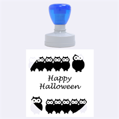 Happy Halloween   Owls Rubber Round Stamps (large)