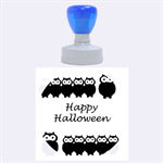 Happy Halloween - owls Rubber Round Stamps (Large) 1.875 x1.875  Stamp