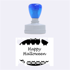 Happy Halloween   Owls Rubber Oval Stamps