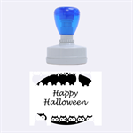Happy Halloween - owls Rubber Oval Stamps 1.88 x1.37  Stamp