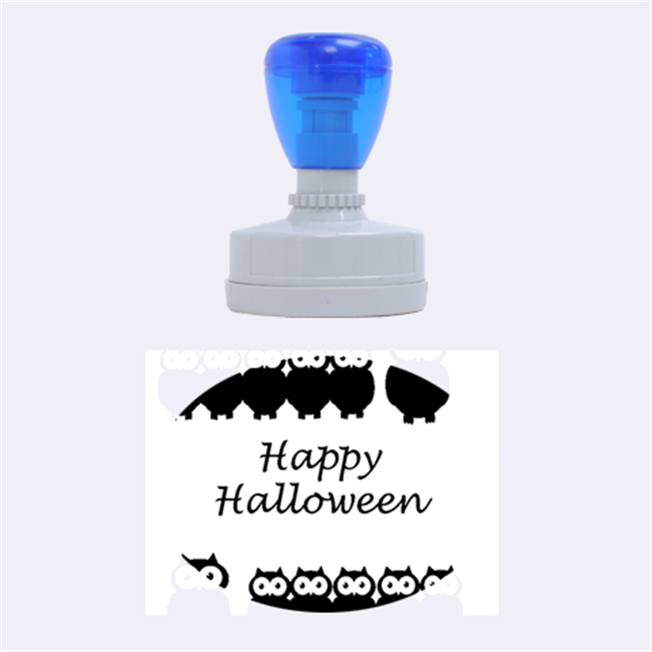 Happy Halloween - owls Rubber Oval Stamps