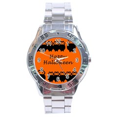 Happy Halloween - owls Stainless Steel Analogue Watch