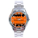 Happy Halloween - owls Stainless Steel Analogue Watch Front