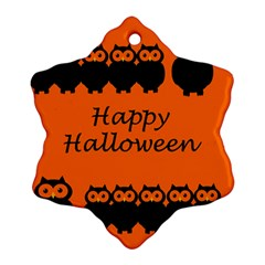 Happy Halloween   Owls Ornament (snowflake)