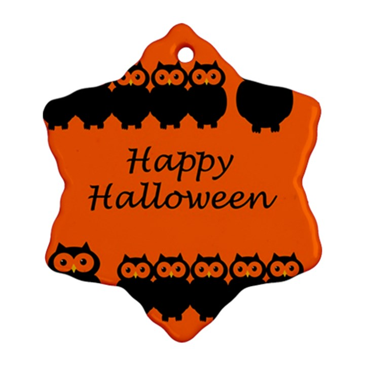 Happy Halloween - owls Ornament (Snowflake)