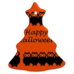 Happy Halloween - owls Ornament (Christmas Tree) Front