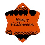 Happy Halloween - owls Snowflake Ornament (2-Side) Front