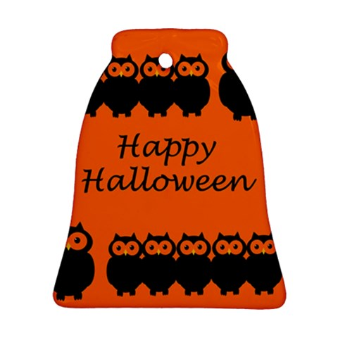 Happy Halloween - owls Bell Ornament (2 Sides)