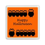 Happy Halloween - owls Memory Card Reader (Square)  Front