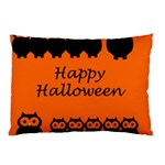 Happy Halloween - owls Pillow Case (Two Sides) Back