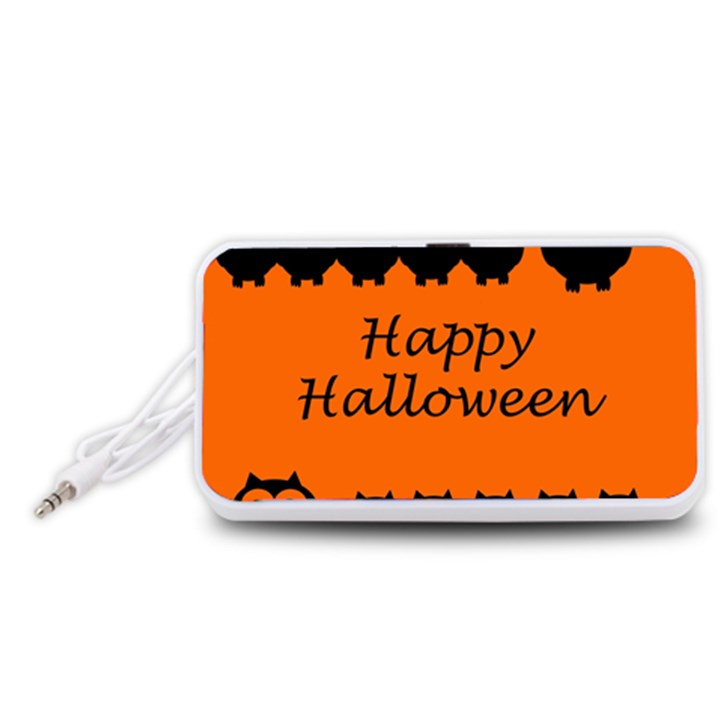 Happy Halloween - owls Portable Speaker (White)