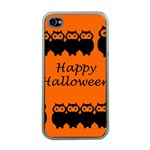 Happy Halloween - owls Apple iPhone 4 Case (Clear) Front