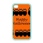 Happy Halloween - owls Apple iPhone 4 Case (Color) Front