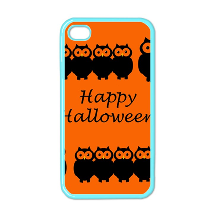 Happy Halloween - owls Apple iPhone 4 Case (Color)