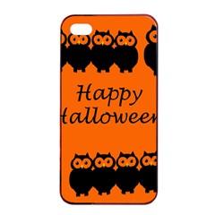 Happy Halloween - owls Apple iPhone 4/4s Seamless Case (Black)