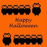 Happy Halloween - owls MOM 3D Greeting Card (8x4) Inside
