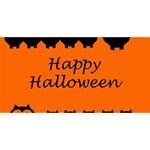 Happy Halloween - owls Twin Hearts 3D Greeting Card (8x4) Back