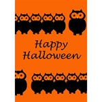 Happy Halloween - owls Heart Bottom 3D Greeting Card (7x5) Inside