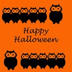 Happy Halloween - owls Twin Heart Bottom 3D Greeting Card (8x4) Inside